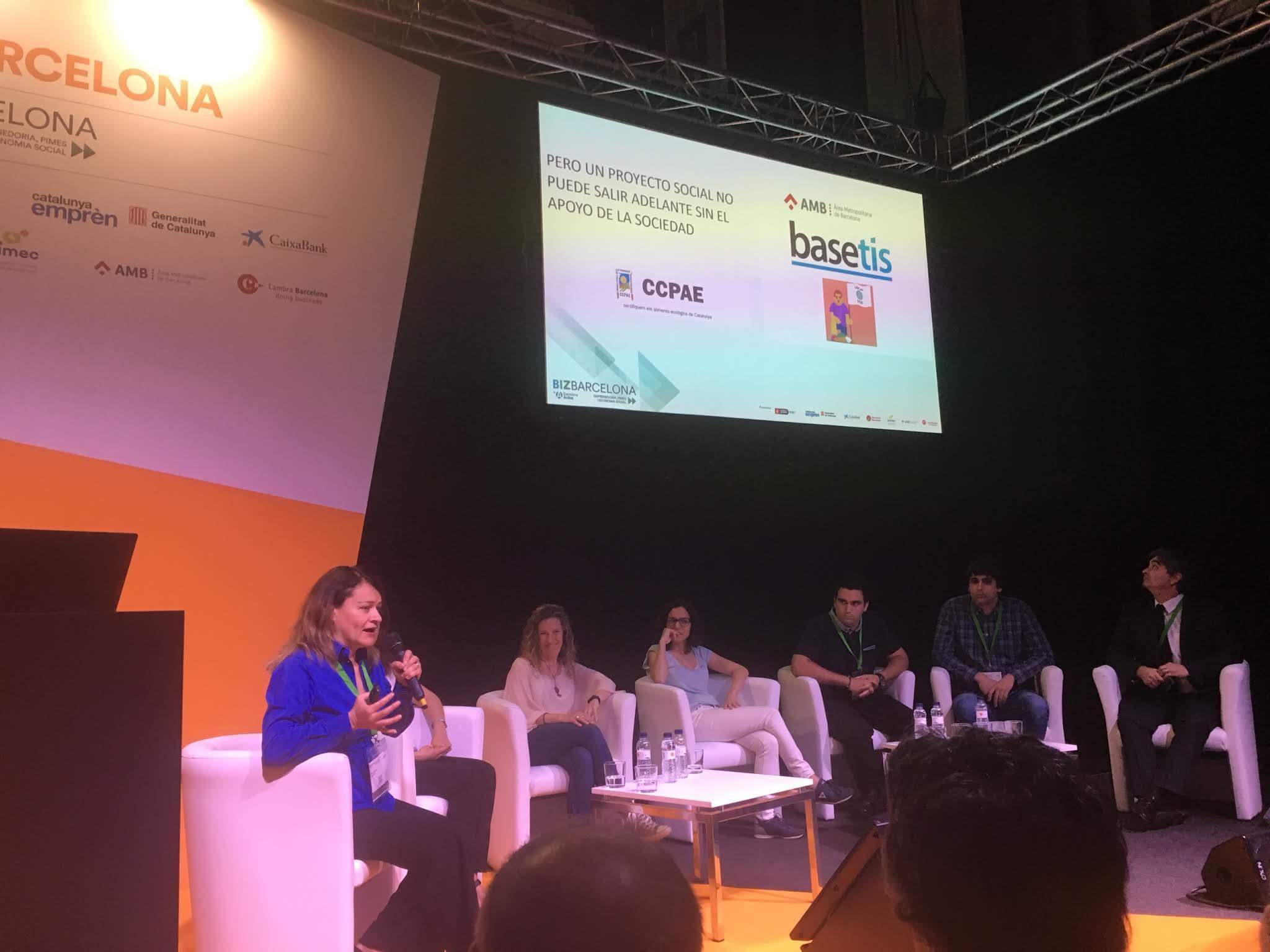Presentació d'Ecolocal a la BizBarcelona 2018.