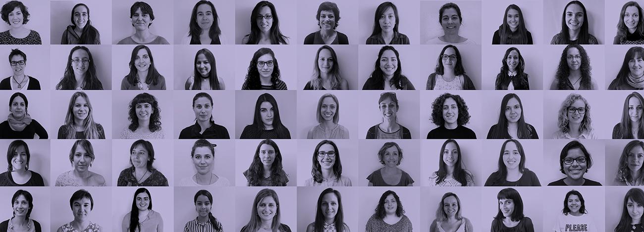 Muntatge de les dones a BaseTIS per la Igualtat.