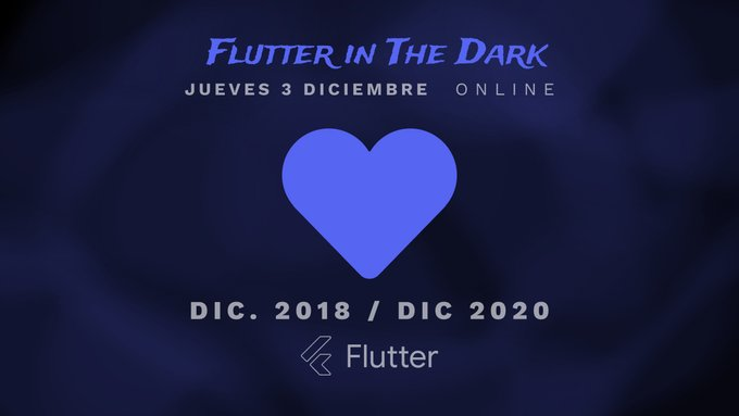 Banner descriptivo del evento flutter