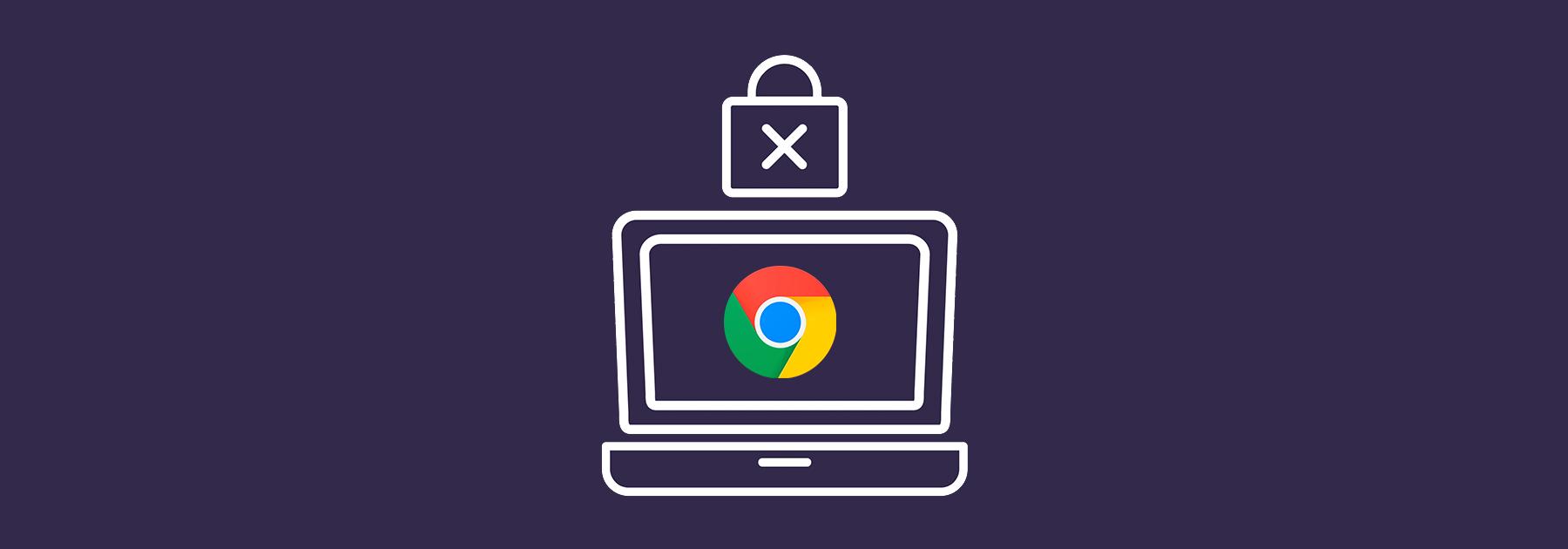 Ordenador con de Google Chrome
