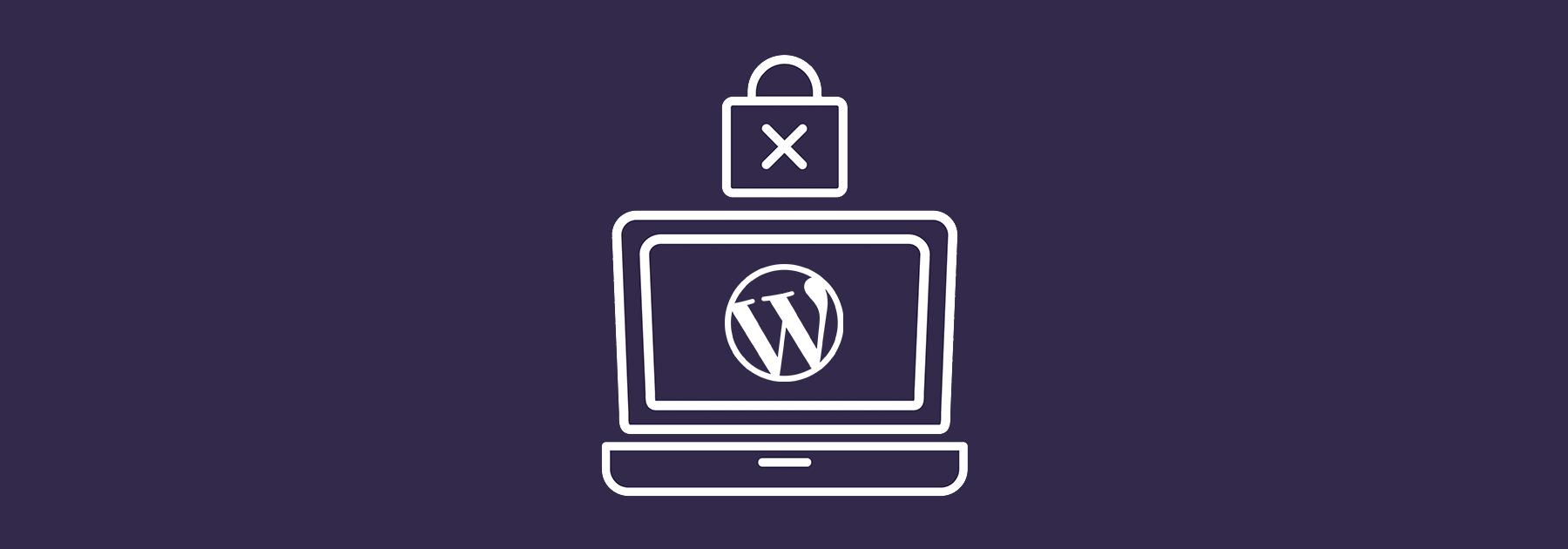 Ordenador con icono de WordPress