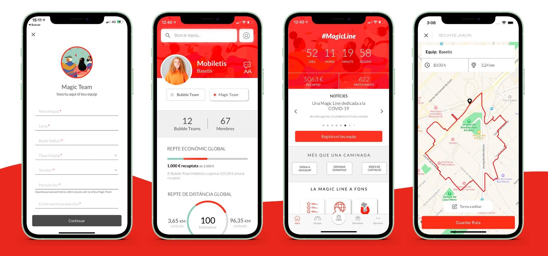 Magic Line 2021 app screens