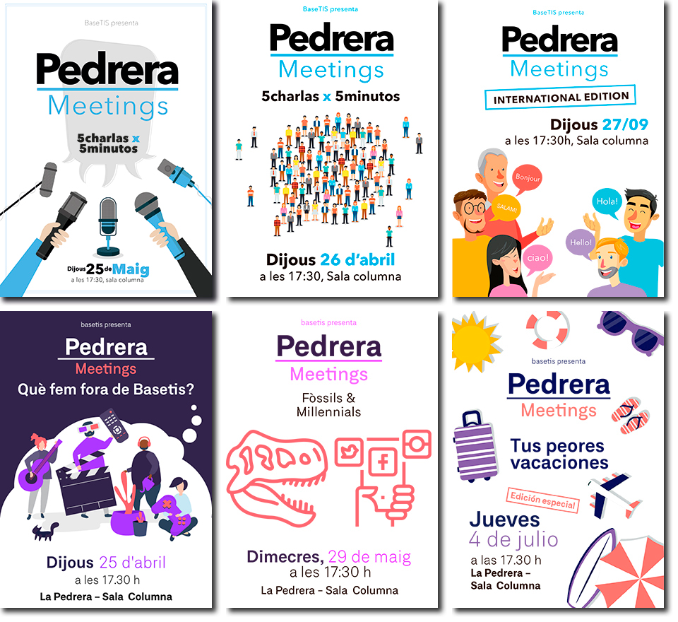 Cartells dels Pedrera Meetings