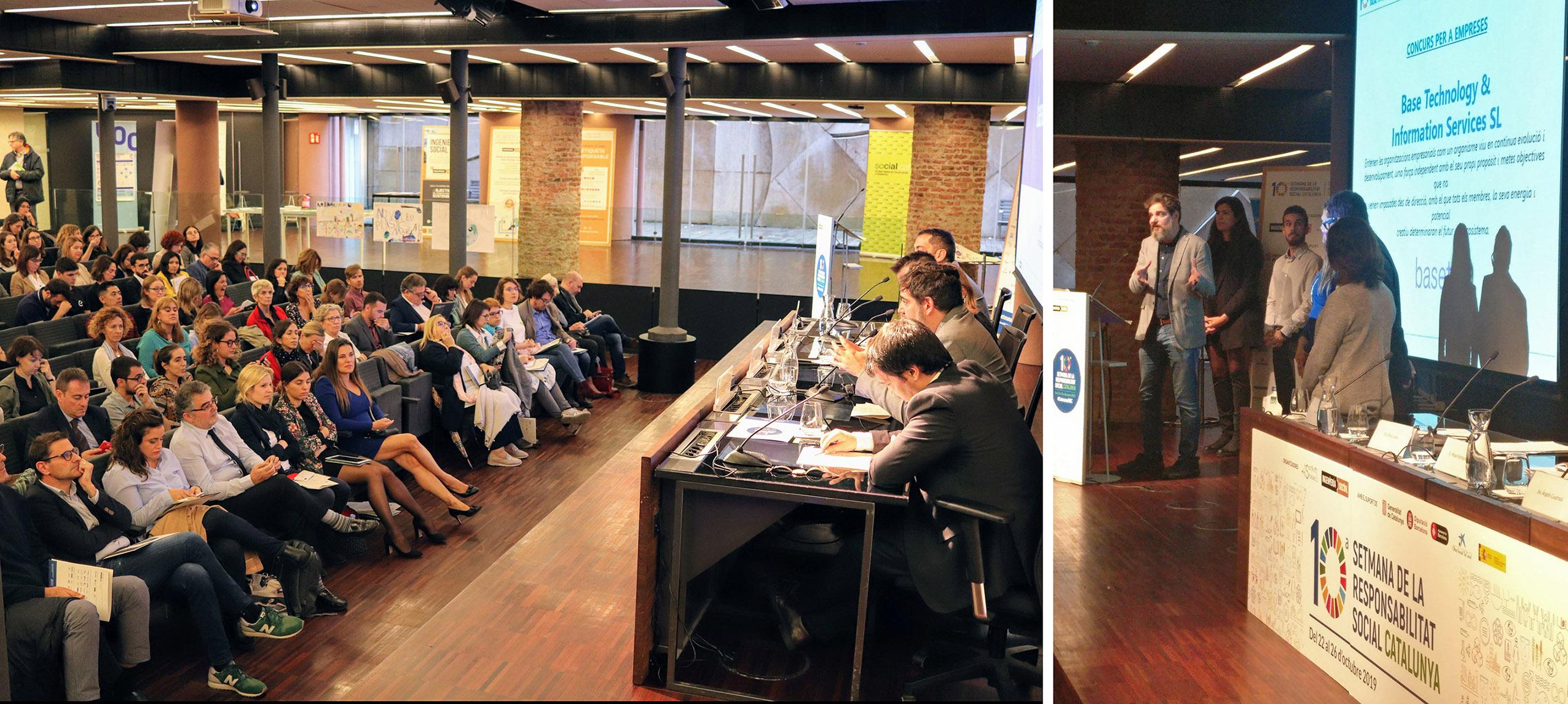 Taula rodona, amb intervenció d'Andreu Carreras, a l'auditori de La Pedrera