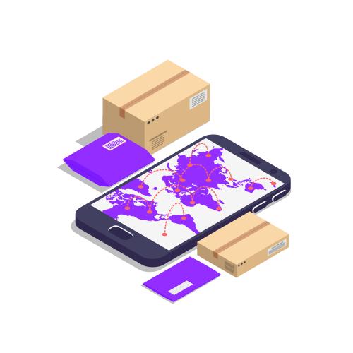 página e-commerce haciendo envíos a todo el mundo