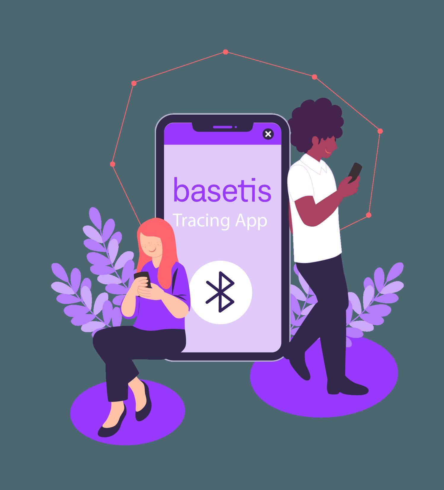 app de rastreo de personas que hayan estado en contacto con un caso de covid-19, Basetis Tracing App, siendo usada