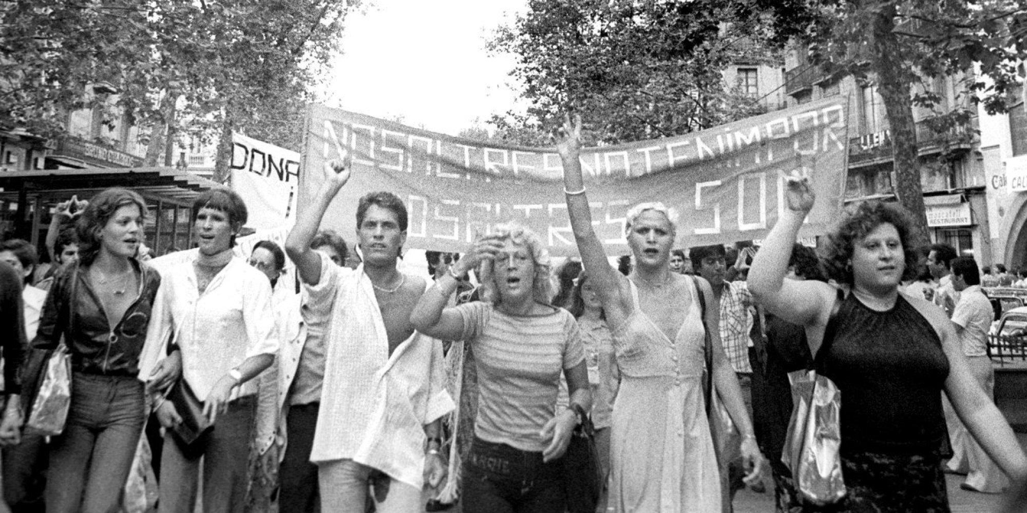 Primera manifestació gay Barcelona