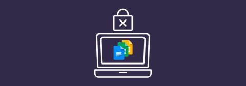 Ordenador con icono documentos de Google
