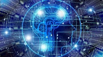 Cerebro con inteligencia artificial