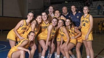 Foto equip sènior femení del Club de Bàsquet Sant Just
