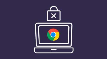 Ordenador con icono Google Chrome